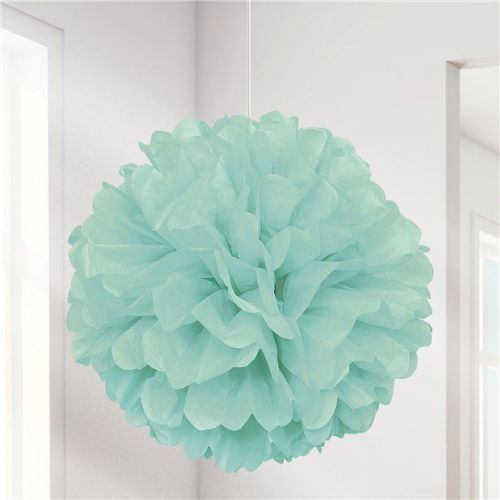 Mint Puffball Hanging Decoration (each)